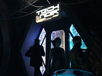 The Image shows the entrance to a bar called Tech Noir