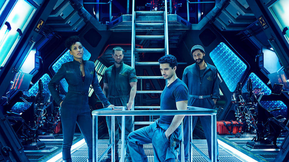 The Image shows the main cast of the Expanse