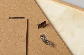 Star name registry wooden frame clip