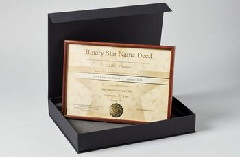 Star name registry binary star gift set