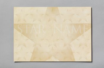 Star name registry certificate reverse