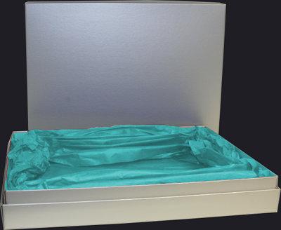 Cyan gift box